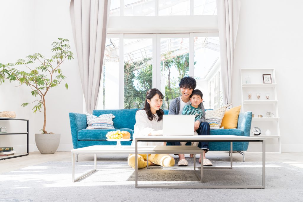 家族で短期賃貸を探す